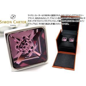 SIMON CARTER サイモン・カーター クリスタルバブルカフス(ピンク) (カフスボタン カフリンクス)|cufflink
