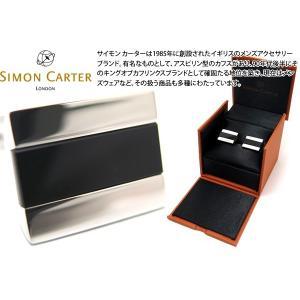 SIMON CARTER サイモン・カーター ハーフバレルカフス(オニキス) (カフスボタン カフリンクス)|cufflink