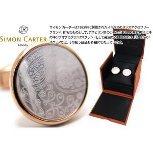 SIMON CARTER サイモン・カーター ペイズリーカフス(ローズゴールド&白蝶貝) (カフスボタン カフリンクス)|cufflink