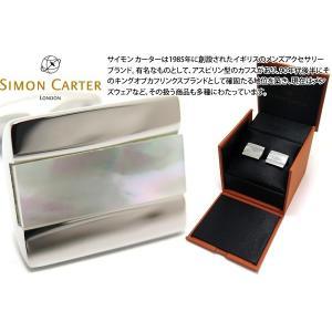 SIMON CARTER サイモン・カーター ハーフバレルカフス(白蝶貝) (カフスボタン カフリンクス)|cufflink