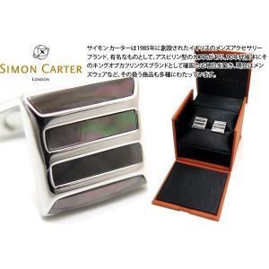 SIMON CARTER サイモン・カーター ストーングリルカフス(黒蝶貝) (カフスボタン カフリンクス)|cufflink