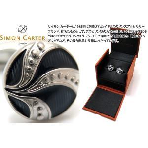 SIMON CARTER サイモン・カーター ヴィンテージボタンカフス(ブルーエナメル) (カフスボタン カフリンクス)|cufflink
