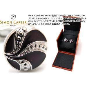 SIMON CARTER サイモン・カーター ヴィンテージボタンカフス(パープルエナメル) (カフスボタン カフリンクス)|cufflink