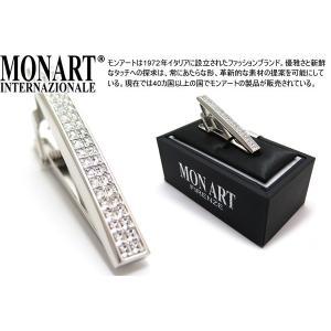 MONART モンアート スワロフスキーサーフェスタイクリップ (ネクタイピン ネクタイバー)|cufflink