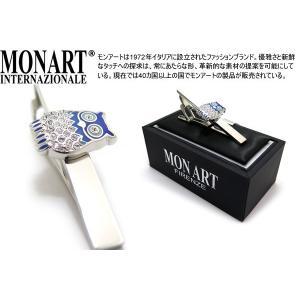 P10倍 MONART モンアート スワロフスキーフクロウタイクリップ (ネクタイピン ネクタイバー)|cufflink