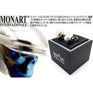 MONART モンアート リュミエールハンチングキャップスカルスワロフスキーカフス(ブルー) (カフスボタン カフリンクス)|cufflink