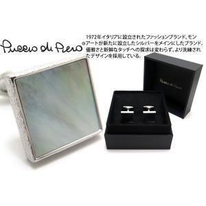 Puccio di Piero プッチオディピエロ シルバーペルラクアドラータカフス(黒蝶貝) (カフスボタン カフリンクス)|cufflink