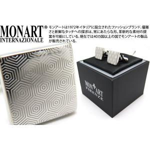 MONART モンアート ヘキサゴンパターンカフス (カフスボタン カフリンクス)|cufflink
