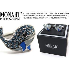 MONART モンアート ファッションガーデンスワロフスキーホエールカフス (カフスボタン カフリンクス)|cufflink
