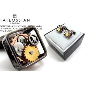 TATEOSSIAN タテオシアン ガンメタリックギアカフス (カフスボタン カフリンクス) ブランド|cufflink