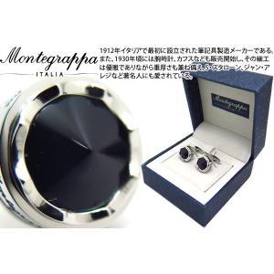 MONTEGRAPPA モンテグラッパ パローラカフス(アッチャイオ、ダークネイビー) (カフスボタン カフリンクス)|cufflink