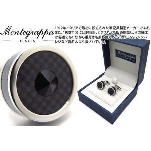 MONTEGRAPPA モンテグラッパ クラシックフィリグリーカフス(ステンレス、カーボンファイバー) (カフスボタン カフリンクス)|cufflink