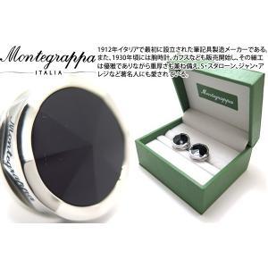 MONTEGRAPPA モンテグラッパ ネロウーノスチールカフス(オニキス) (カフスボタン カフリンクス)|cufflink