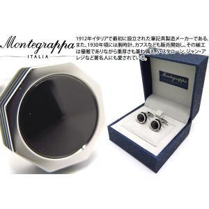 MONTEGRAPPA モンテグラッパ ネロウーノリネアカフス(オニキス) (カフスボタン カフリンクス)|cufflink