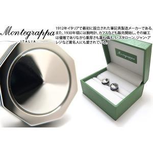 MONTEGRAPPA モンテグラッパ ネロウーノリネアカフス(メタル) (カフスボタン カフリンクス)|cufflink