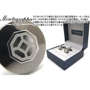 MONTEGRAPPA モンテグラッパ イルシニョーレカフス(ガンメタル/スチール) (カフスボタン カフリンクス)|cufflink