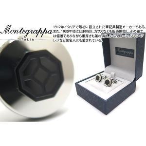MONTEGRAPPA モンテグラッパ イルシニョーレカフス(スチール/ブラック) (カフスボタン カフリンクス)|cufflink
