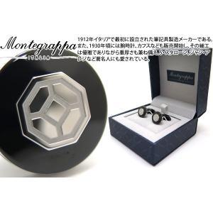 MONTEGRAPPA モンテグラッパ イルシニョーレカフス(ブラック/スチール) (カフスボタン カフリンクス)|cufflink