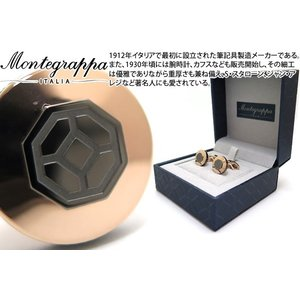 MONTEGRAPPA モンテグラッパ イルシニョーレカフス(ローズゴールド/ガンメタル) (カフスボタン カフリンクス)|cufflink