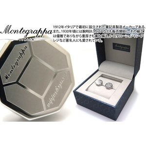 MONTEGRAPPA モンテグラッパ トリプディオカフス(スティール) (カフスボタン カフリンクス)|cufflink