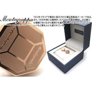 MONTEGRAPPA モンテグラッパ トリプディオカフス(IPローズゴールド) (カフスボタン カフリンクス)|cufflink