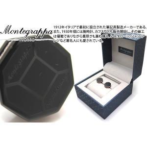 MONTEGRAPPA モンテグラッパ トリプディオカフス(IPブラック/IPローズゴールド) (カフスボタン カフリンクス)|cufflink