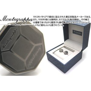 MONTEGRAPPA モンテグラッパ トリプディオカフス(IPブラック/スティール) (カフスボタン カフリンクス)|cufflink