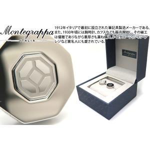 MONTEGRAPPA モンテグラッパ グリークフレットカフス(スティール) (カフスボタン カフリンクス)|cufflink