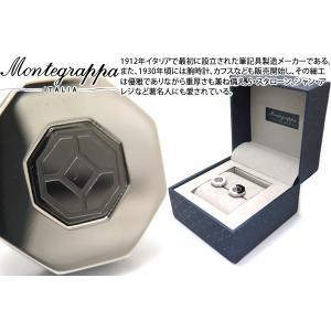 MONTEGRAPPA モンテグラッパ グリークフレットカフス(IPガンメタル、スティール) (カフスボタン カフリンクス)|cufflink