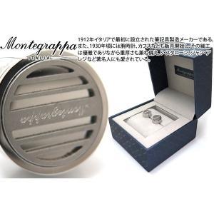 MONTEGRAPPA モンテグラッパ グリッドカフス(スティール) (カフスボタン カフリンクス)|cufflink