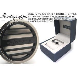MONTEGRAPPA モンテグラッパ グリッドカフス(スティール、IPブラック) (カフスボタン カフリンクス)|cufflink