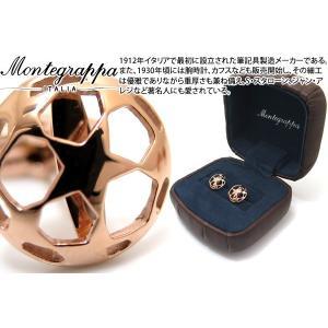 MONTEGRAPPA モンテグラッパ UEFAチャンピオンズリーグカフス(IPローズゴールド) (カフスボタン カフリンクス)|cufflink