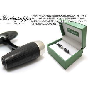 MONTEGRAPPA モンテグラッパ フォルトゥナカフス(IPブラック、スチール) (カフスボタン カフリンクス)|cufflink