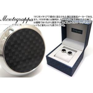 MONTEGRAPPA モンテグラッパ メヌエットカフス(ステンレス、カーボン) (カフスボタン カフリンクス)|cufflink