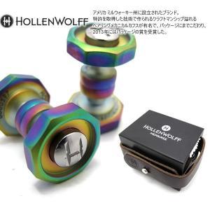 HOLLENWOLFF ホーレンウォルフ セルフリテイニングオクタゴナルカフス(スカラブ×クローム) (カフスボタン カフリンクス)|cufflink