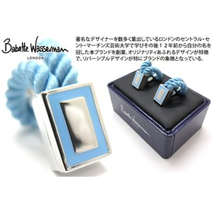 Babette Wasserman バベットワッサーマン ロープラップカフス(ライトブルー) (カフスボタン カフリンクス) cufflink