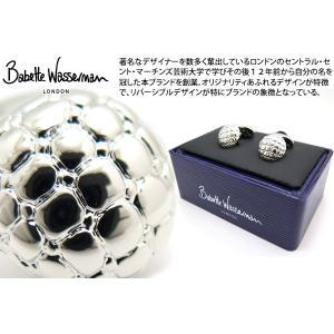 Babette Wasserman バベットワッサーマン ボタンダッフルカフス(ロジウム) (カフスボタン カフリンクス)|cufflink