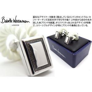 Babette Wasserman バベットワッサーマン ロープラップカフス(ホワイト) (カフスボタン カフリンクス) cufflink