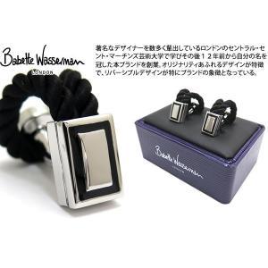 Babette Wasserman バベットワッサーマン ロープラップカフス(ブラック) (カフスボタン カフリンクス)|cufflink