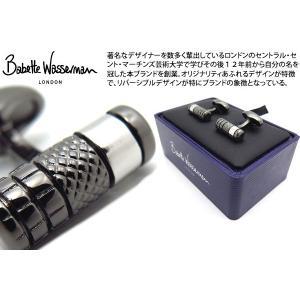 Babette Wasserman バベットワッサーマン ラスプカフス(ブラック) (カフスボタン カフリンクス)|cufflink