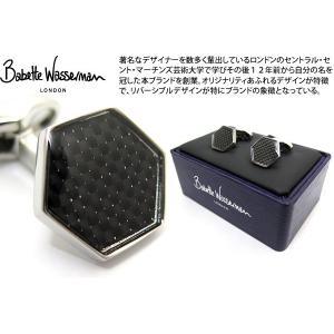 Babette Wasserman バベットワッサーマン ヘキサゴンカーボンカフス(ブラック) (カフスボタン カフリンクス) cufflink
