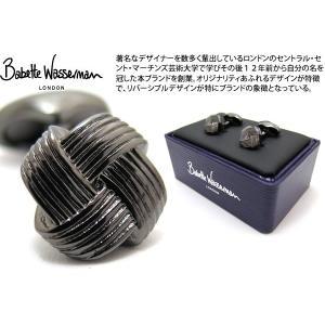 Babette Wasserman バベットワッサーマン オリガミノットカフス(ブラックロジウム) (カフスボタン カフリンクス)|cufflink