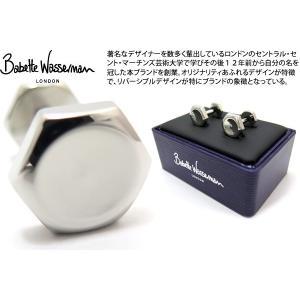 Babette Wasserman バベットワッサーマン ナット&ボルトカフス(ロジウム) (カフスボタン カフリンクス) cufflink