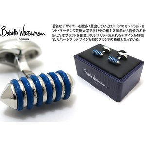 P10倍 Babette Wasserman バベットワッサーマン リカリッシュカフス(ブルー) (カフスボタン カフリンクス)|cufflink