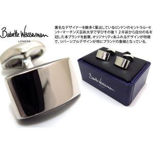 Babette Wasserman バベットワッサーマン カーボンウェーブカフス(ブラック) (カフスボタン カフリンクス)|cufflink