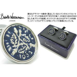 Babette Wasserman バベットワッサーマン コイン エナメル カフス(ネイビー) (カフスボタン カフリンクス) cufflink