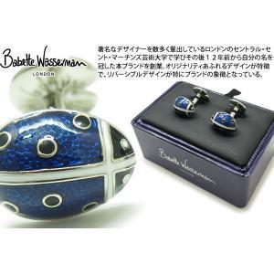 Babette Wasserman バベットワッサーマン テントウムシ カフス(ブルー) (カフスボタン カフリンクス) cufflink