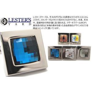 LESTER'S YARD レスターズヤード モザイクスワロフスキースクウェアカフス (カフスボタン カフリンクス)|cufflink