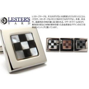 LESTER'S YARD レスターズヤード チェッカースクウェアカフス (カフスボタン カフリンクス)|cufflink