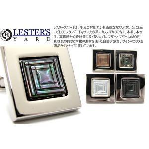 LESTER'S YARD レスターズヤード ダブルスクウェアカフス (カフスボタン カフリンクス)|cufflink